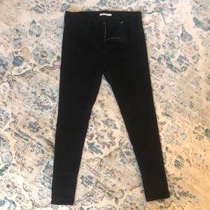 Levi's 720 High Rise Super Skinny Black Jeans
